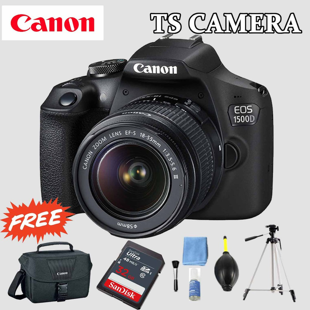 CANON EOS 1500D WITH LENS EF-S 18-55MM IS II (CANON MALAYSIA)