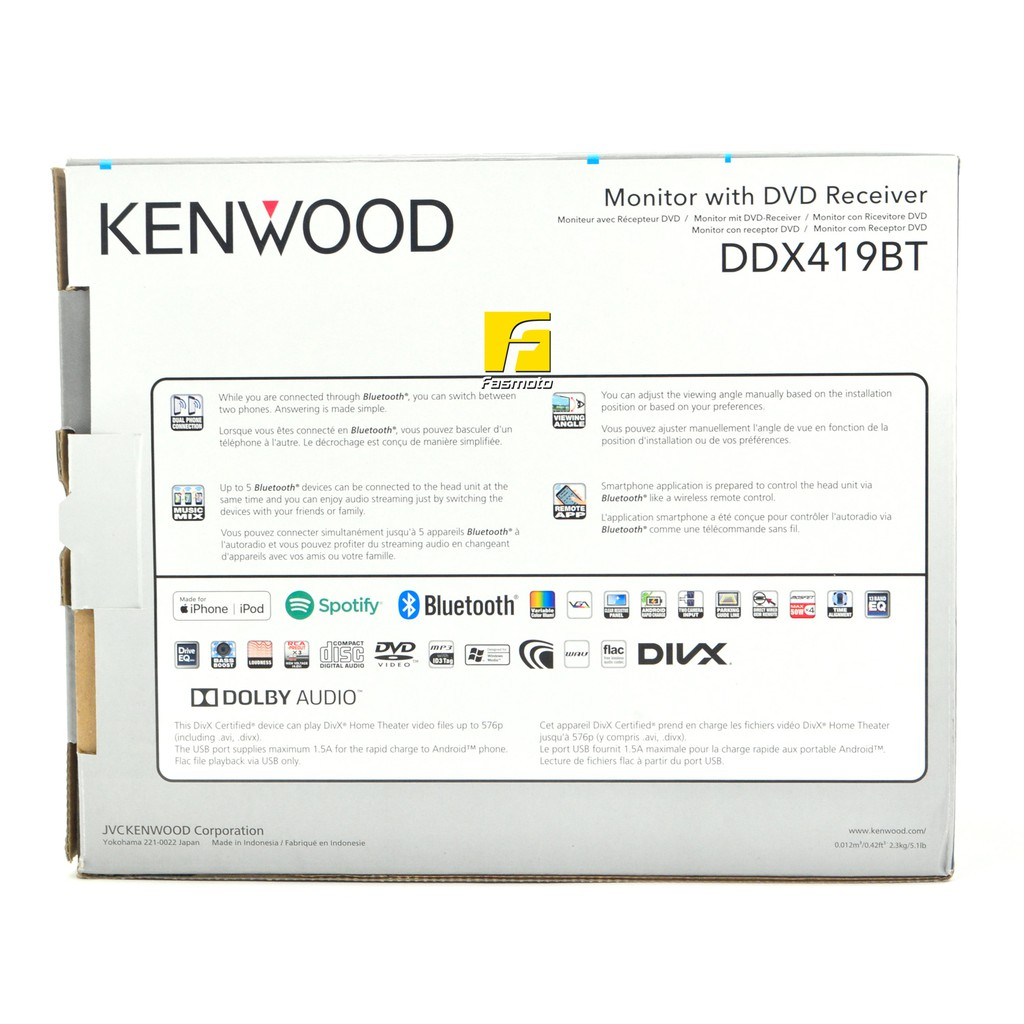 KENWOOD DDX419BT 6 2