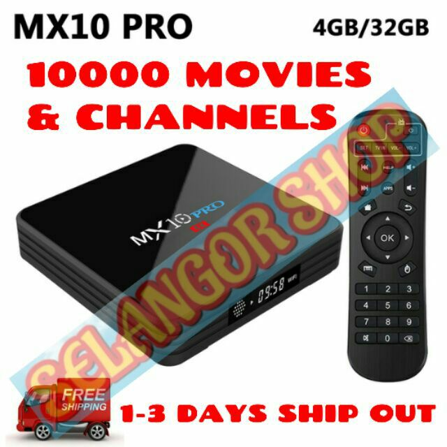 PRE-INSTALL 10000 MOVIES AND CHANNELS ANDROIDBOX MX10 PRO ANDROID SMART TV  BOX