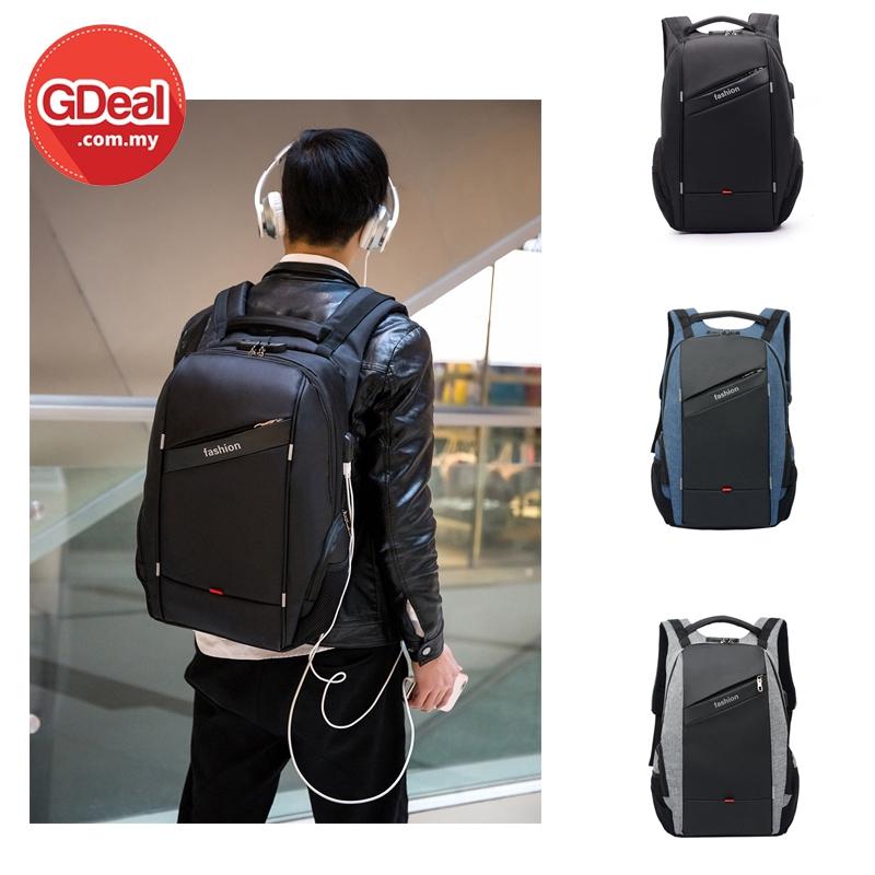 GDeal Backpack Unisex Fashion Leisure Student  School Bag Travel USB Charging Laptop Backpack
