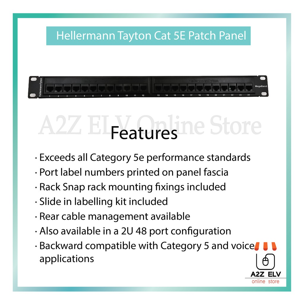 Cat 5E Patch Panel 24Port (  Hellermann Tyton )