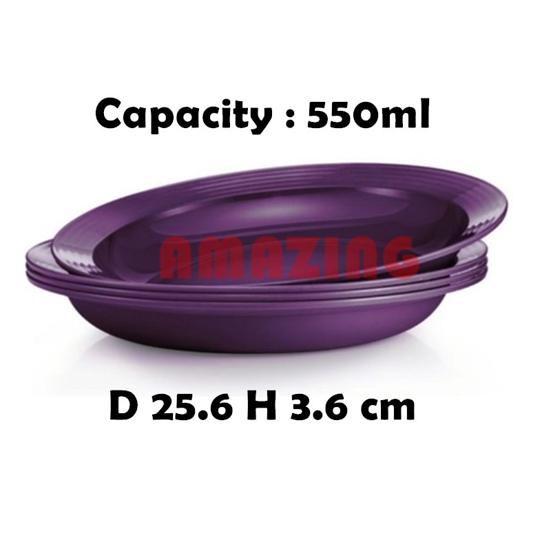 Tupperware Purple Royale Bowl and Plate