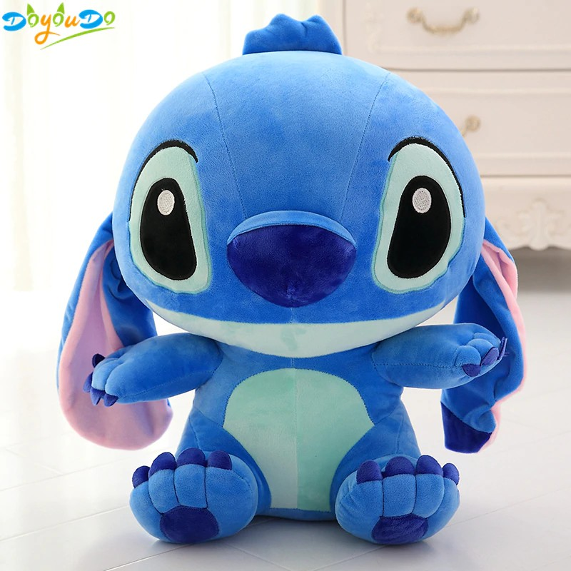 Flounder Stuffed Animal, Big Kawai Stitch Plush Doll Toys Anime Lilo And Stitch Stich Plush Toys Shopee Malaysia