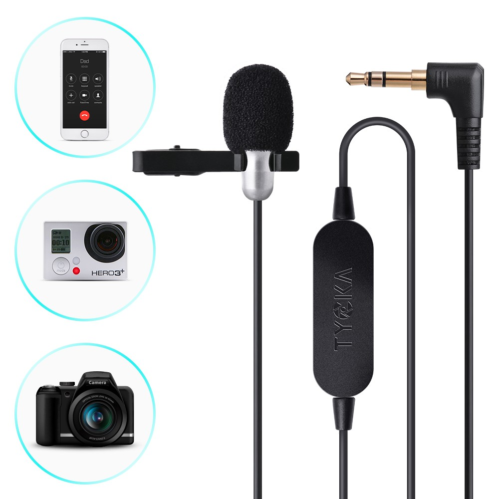 External Clip On Lapel Lavalier Microphone For Iphone Smartphone Boya By M1 Mic Canon Nikon Sony Dslr Camera Kamera Universal Video Camcorder Recording Tk305 Shopee Malaysia