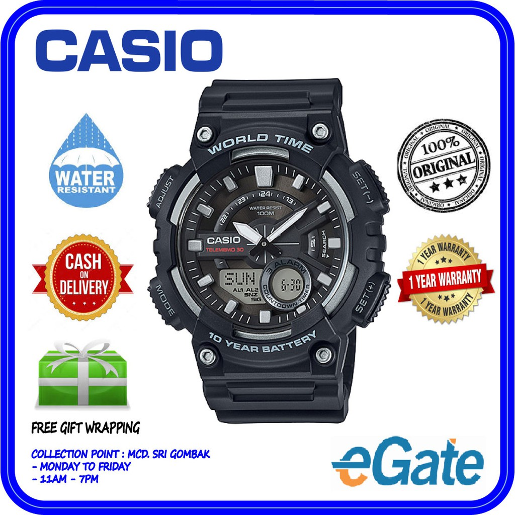 Casio Amw 830d 1av 1a Analog Digital Watch 100 Jam Tangan Wanita Ltp 1094e 7b Original Shopee Malaysia