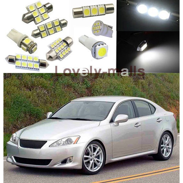 4 X White CCFL Angel Eyes Halo Ring Headlight For 2006-2013 Lexus IS250 IS350