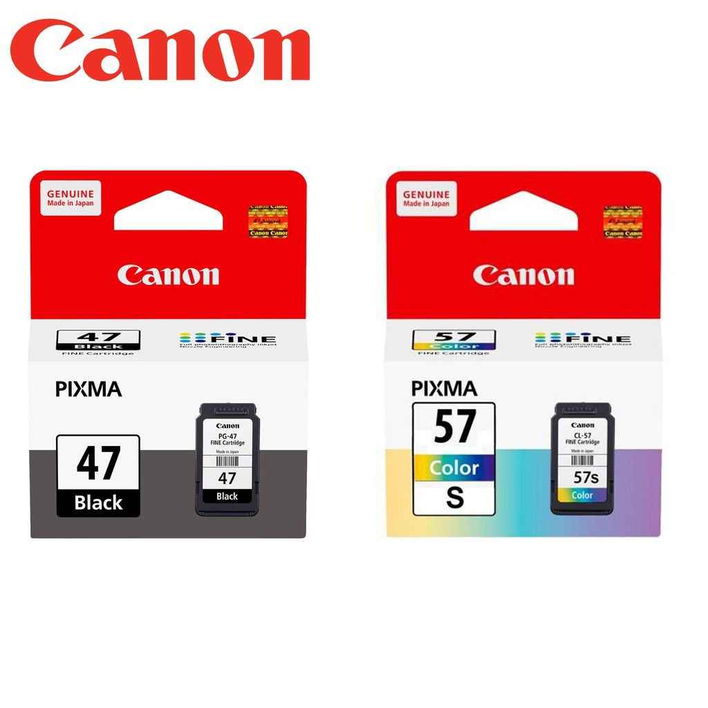 Official Canon Pg 47 Cl 57 57s Pg47 Cl57 Cl57s Ink Ready Cartridge 810 Black Ori Shopee Malaysia