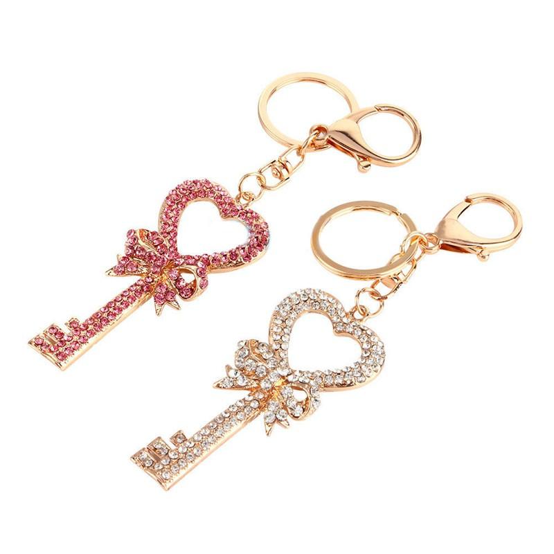efa9fa0850c 3D Rhinestone Crystal Keyring Charm Pendant Purse Bag Key Chain Keychain  Gift