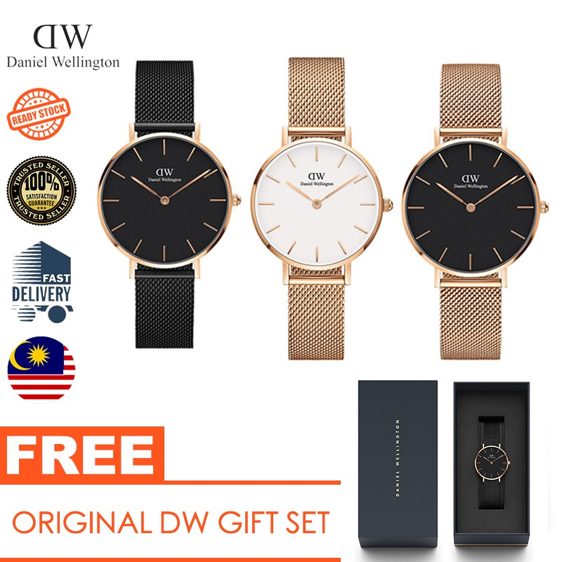 abaa6febfcc55  Daniel Wellington DW Watch Classic Petite Melrose Black 28mm 32mm+Cuff  Gift Set