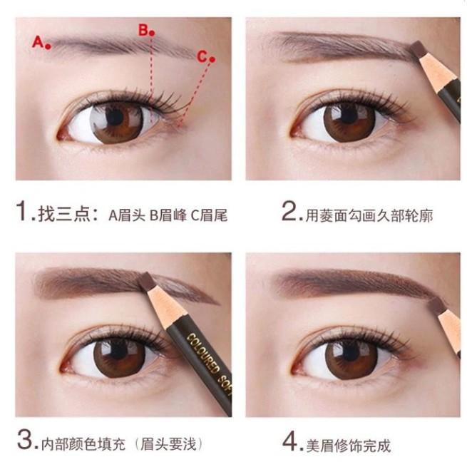 ?M'SIA STOCK] Japan Eyebrow Pencil ( MEISHOKU )- Alat Melukis Kening Mudah