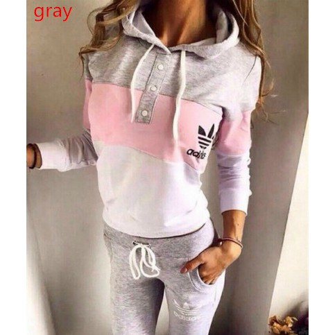🔥ADIDAS🔥 WOMEN'S SPORT🔥 SUITS 2PIECES JOGGING SUIT TRACKSUITS   Shopee  Malaysia
