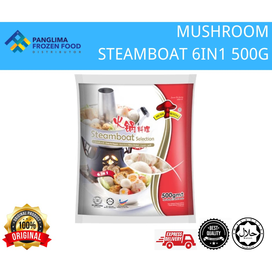 MUSHROOM BRD STEAMBOAT SELECTION 6 IN 1 500G [KLANG VALLEY ONLY]