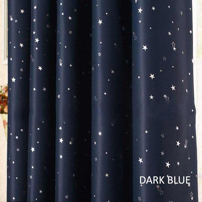 GDeal Pastoral Style Galaxy Star Printing Curtains Design Home Bedroom Blackout Curtain Langsir (120CM x 210CM)
