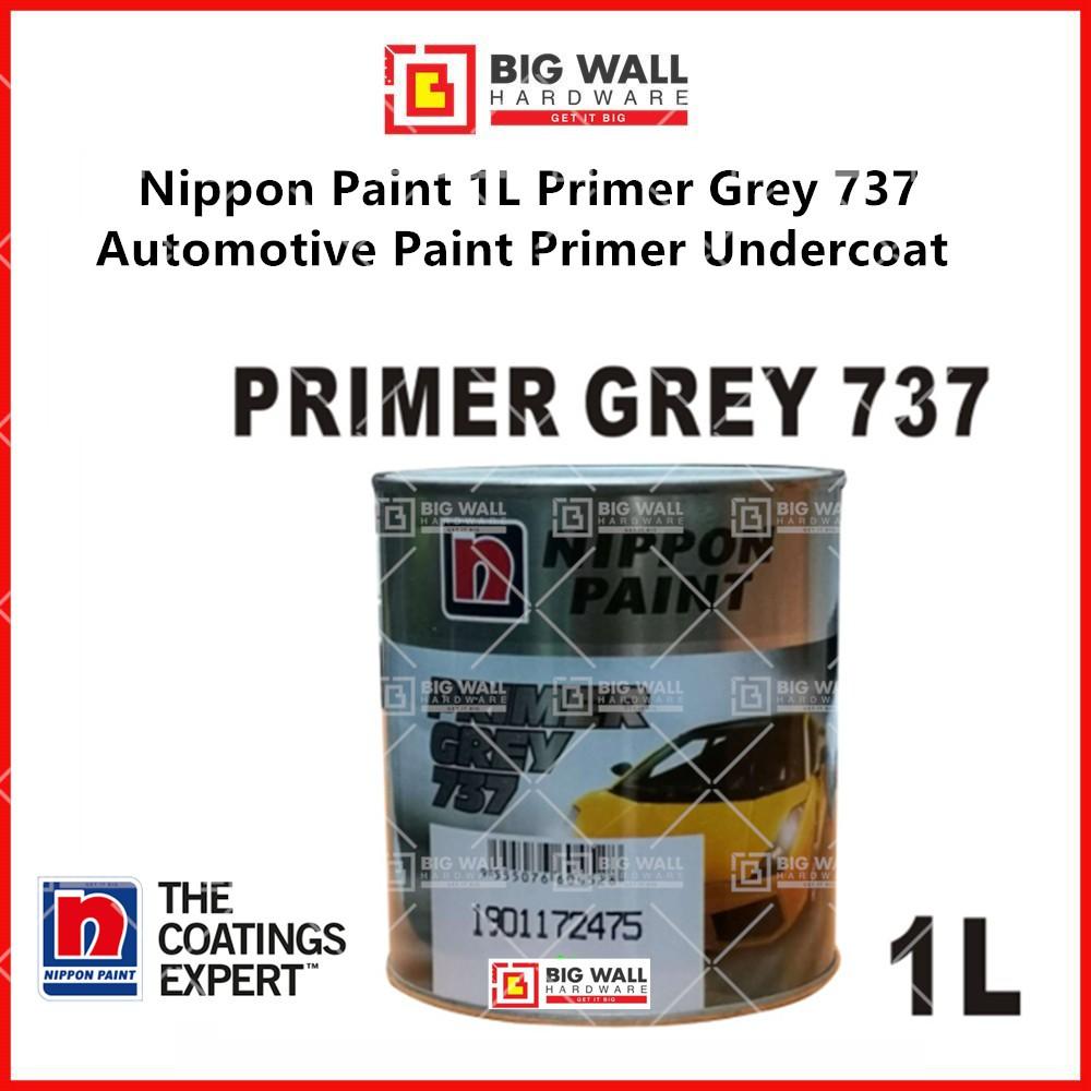 Nippon Paint 1L Primer Grey 737 Undercoat / REFINISH  For Body Car Automotive Paint  (Big Wall Hardware)