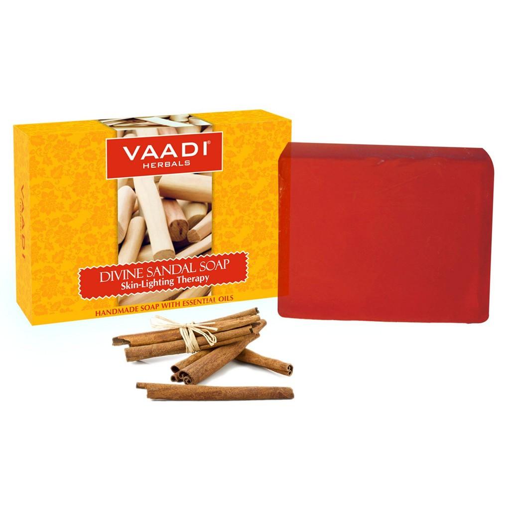 Vaadi Herbals Divine Sandal Soap with Saffron and Turmeric - 75g