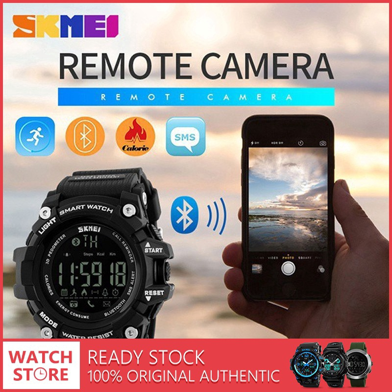 SKMEI 1227 Bluetooth Smart Watch Pedometer Call Reminder fitness tracker Android | Shopee Malaysia