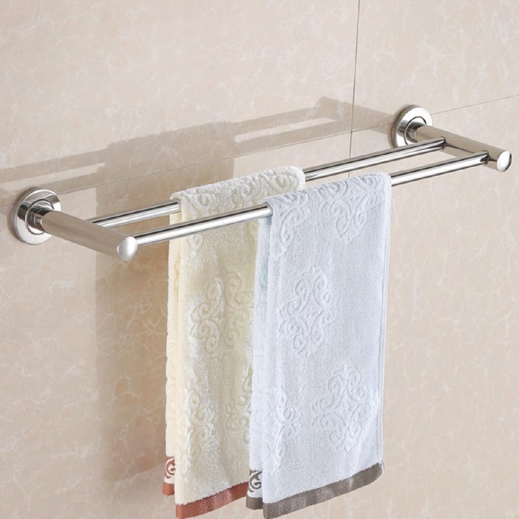 Bathroom Towel Storage Rack Wall Mounted Bath Toilet Rail Stainless Steel Holder