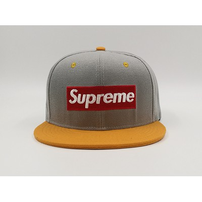 4c235ebf88e ProductImage. Supreme Snapback 3D Embroidery Grey Yellow Hat