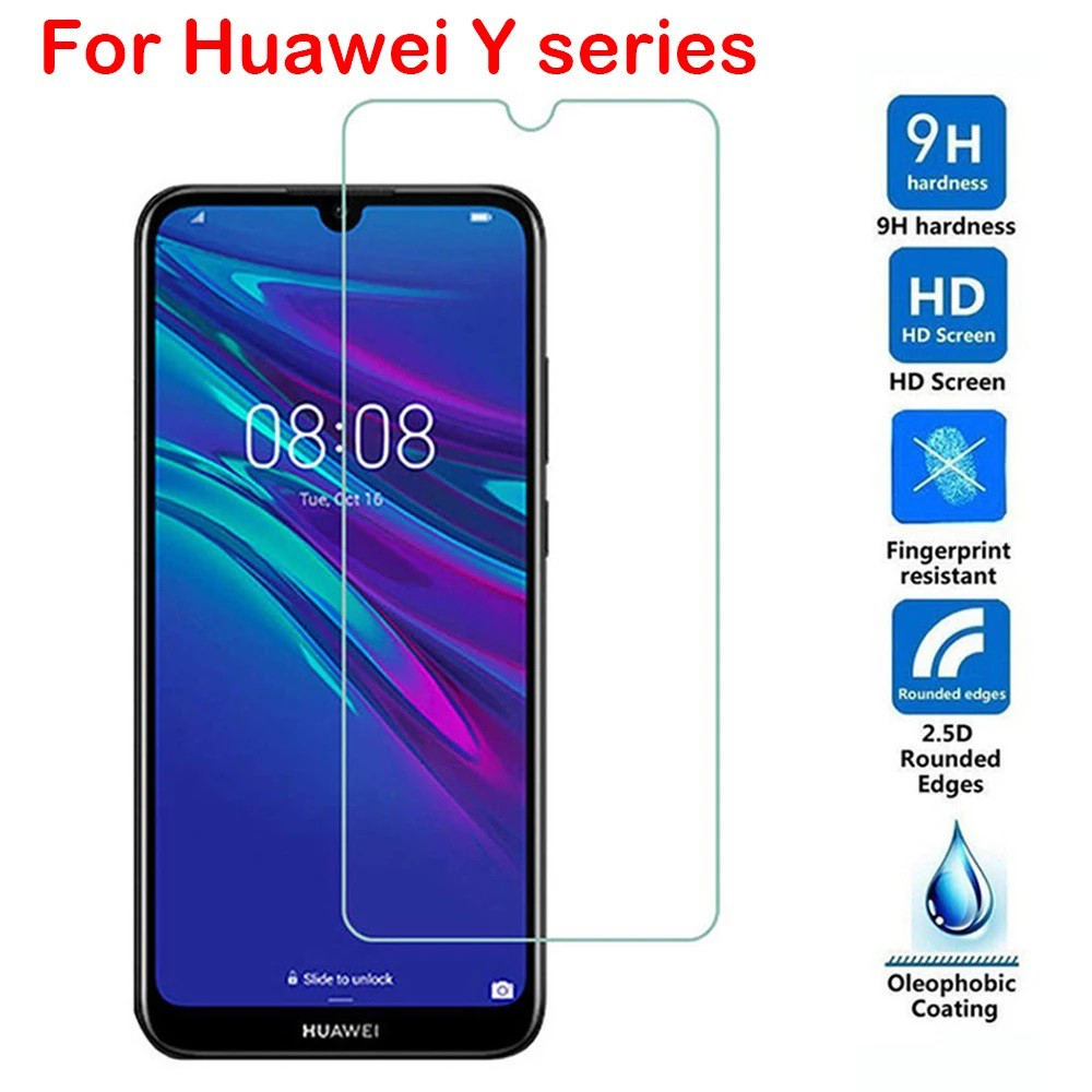 (Normal) Huawei Y5 2019 Y5P Y6P Y7A Y7P P30 P40 Clear Tempered Glass screen Protector
