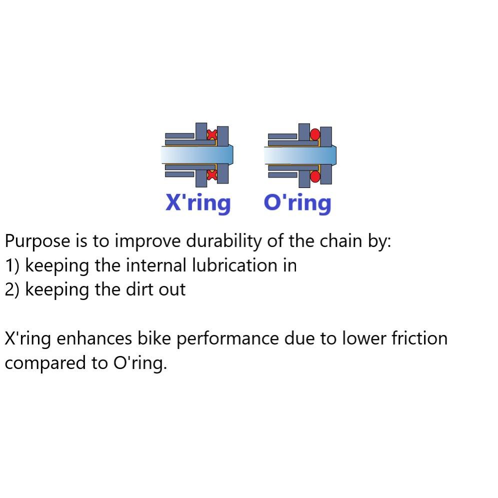 WStandard Golden Chain / Rantai (Oring / Xring) [size 428