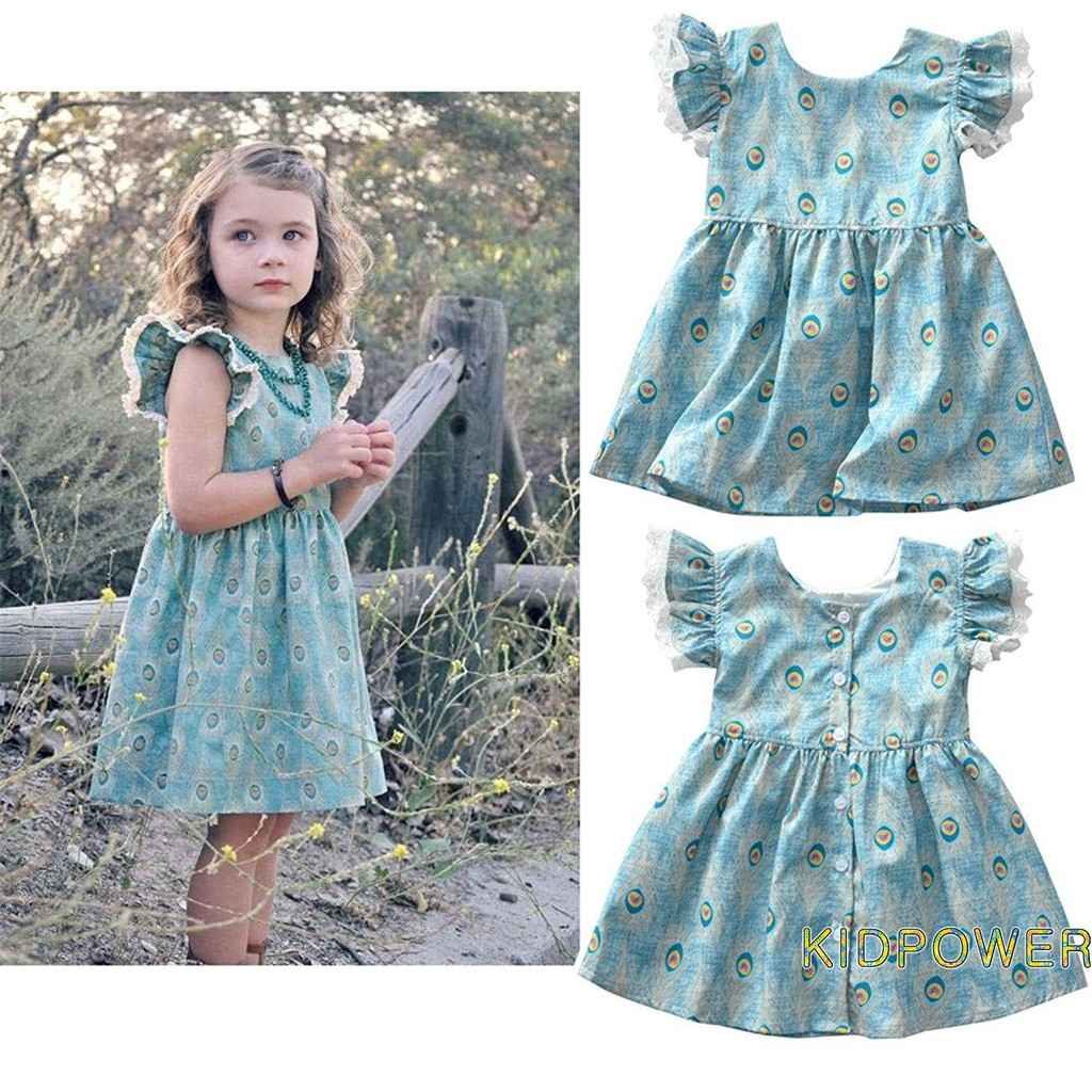 5d466f8ffe2b ProductImage. ProductImage. K.M-Kids Fashion Baby Girls Summer Dress Floral  Falbala ...