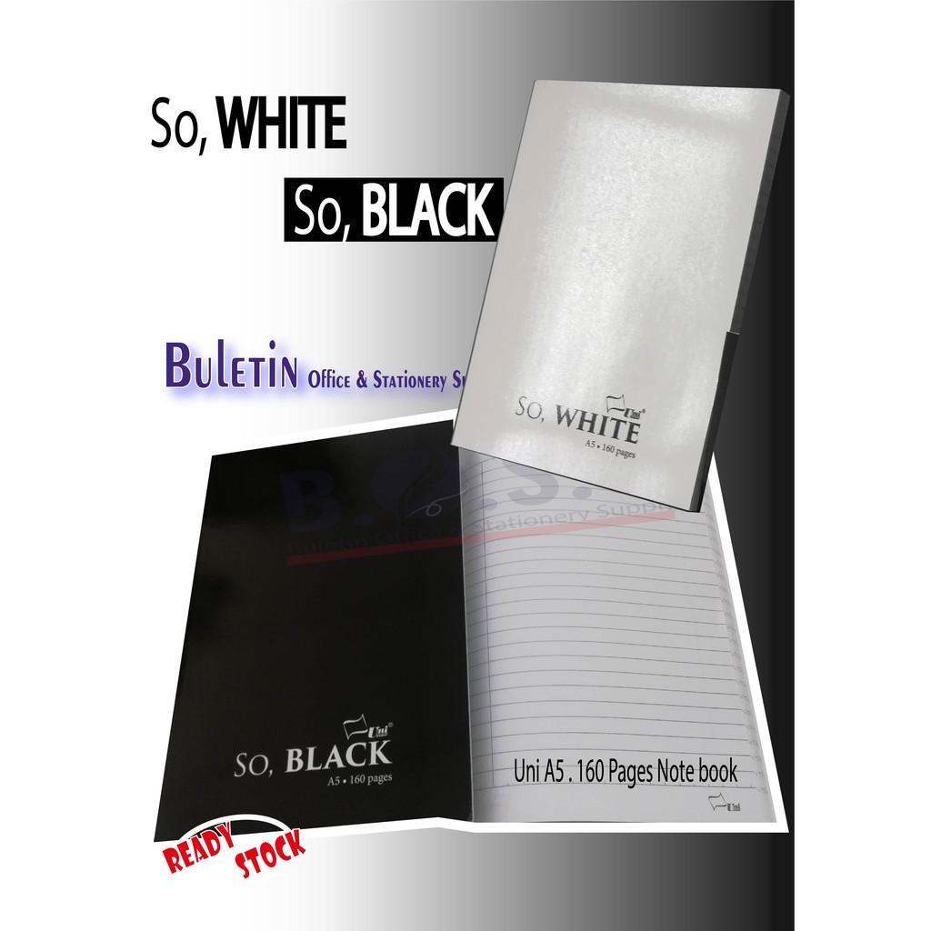 UNI Paper So BLACK, So WHITE A5 Note Book