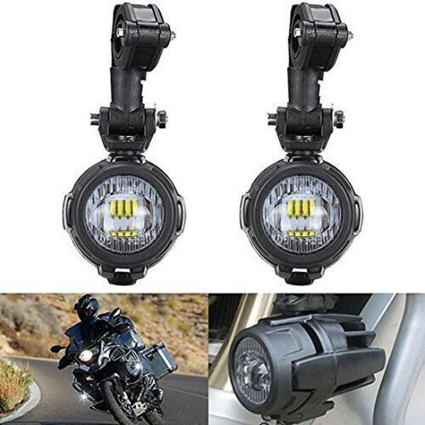 Motorcycle 6000K 8000LM Led Front Illumination Spotlights Headlights Fog  Lights For BMW Honda Harley