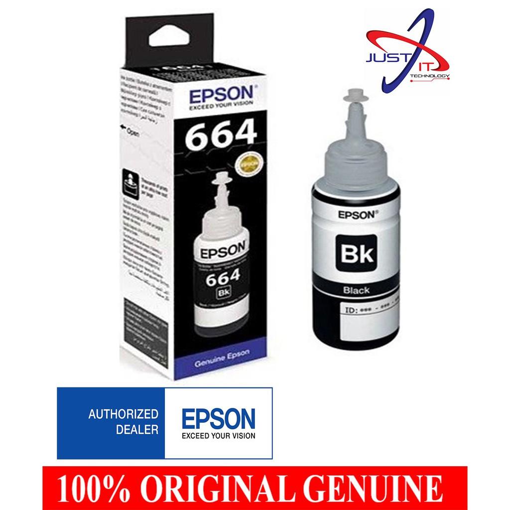 Epson 001 Black Ink Bottle 140ml C13t03y100 Shopee Malaysia Tinta Pigment T7741 Printer M100 M105 M200 M205 140 Ml