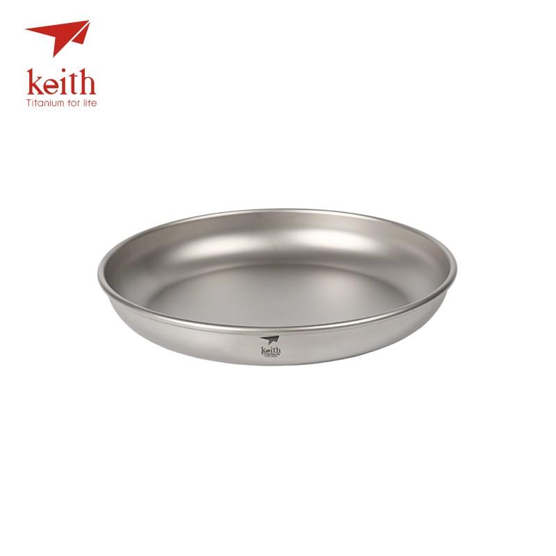 Keith Outdoor Camping Hiking Picnic BBQ Titanium Plate Dish Bowl Tableware
