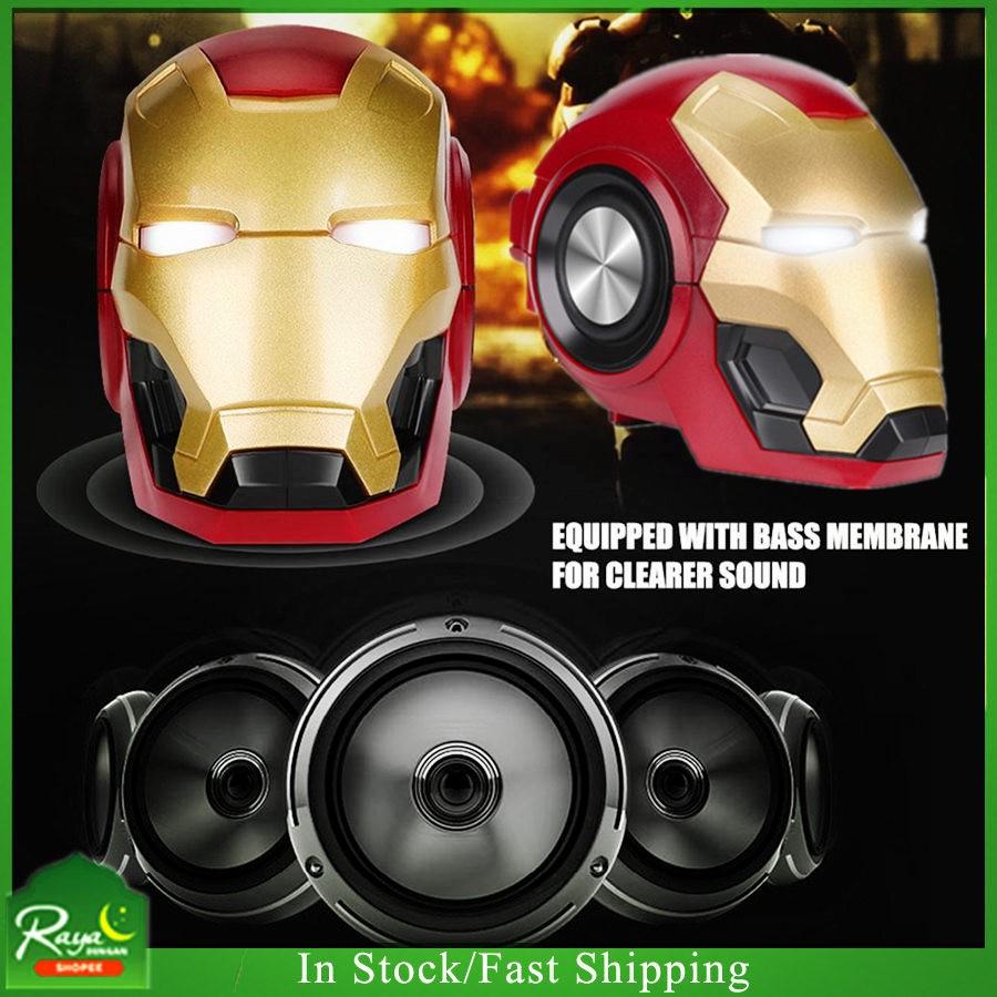 Iron Man Bluetooth Speaker Mini Bluetooth Speaker Support AUX/Bluetooth/USB