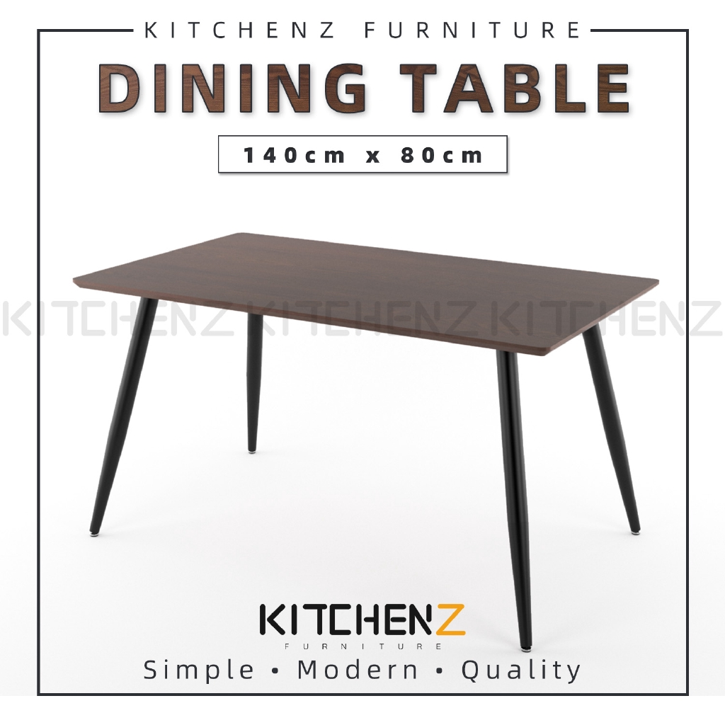Kitchenz Modern Contemporary Dining Table HMZ-FN-DT-JT01(14080)-DB