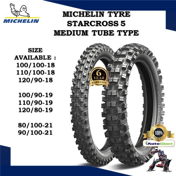 MICHELIN TAYAR  STARCROSS 5 MEDIUM (100% ORIGINAL) 100/100-18, 110/100-18, 120/80-19, 120/90-18