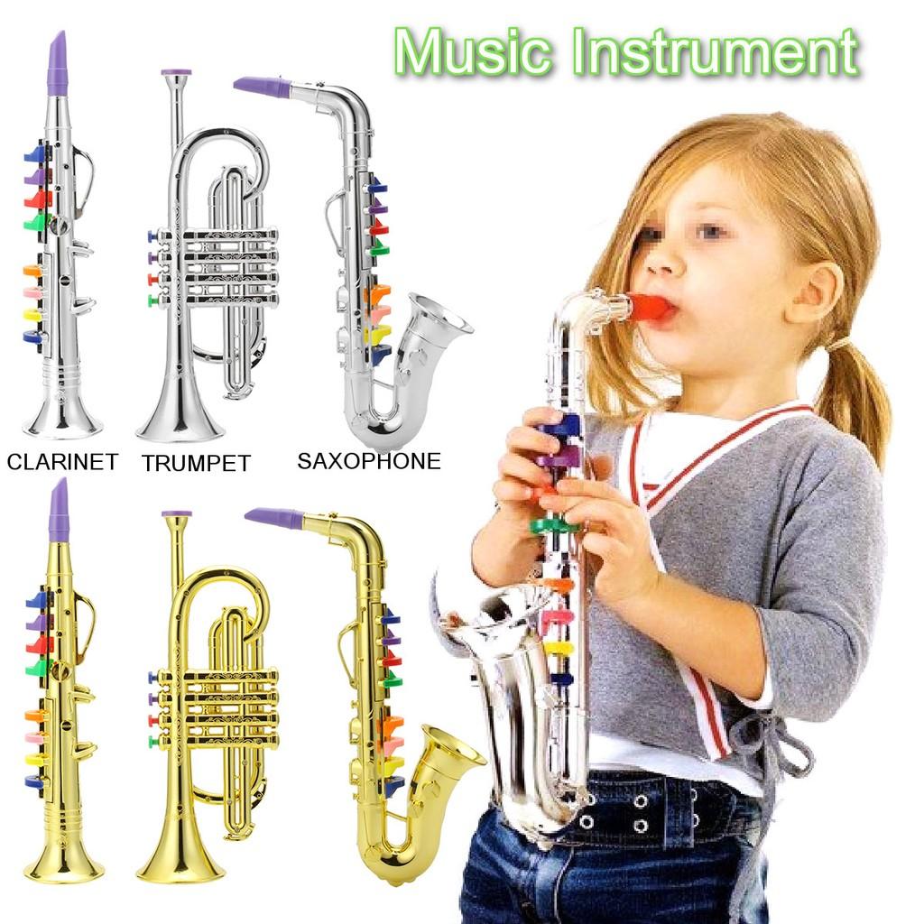 Emulational Horn Trumpet Musical Instrument Toy Kids Gift Firm In Structure Brass Musical Instruments & Gear