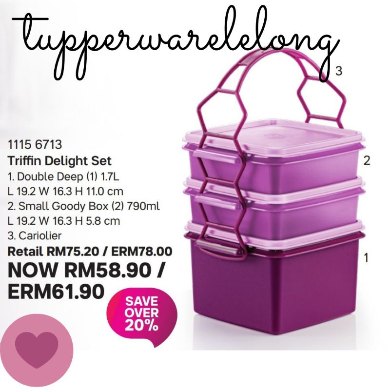 Tupperware Brands Triffin Delight Set - Ready Stock