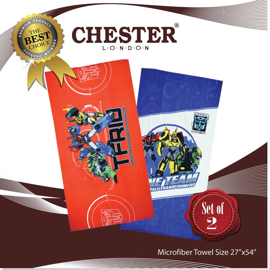 "Chester London Microfiber Towel, 27""x 54"" -Transformers ( Set of 2 )"