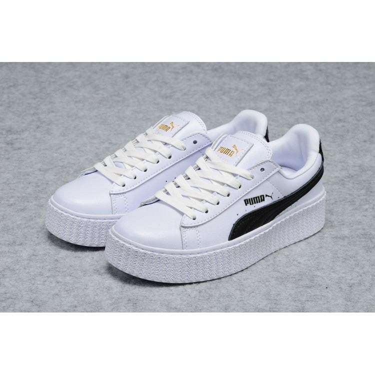 sports shoes 5b037 1effd Free shipping Original Rihanna Cleated Creeper Sued Puma Court Star Cadet  Lover shoes men's Sneakers Badminton Shoes Siz