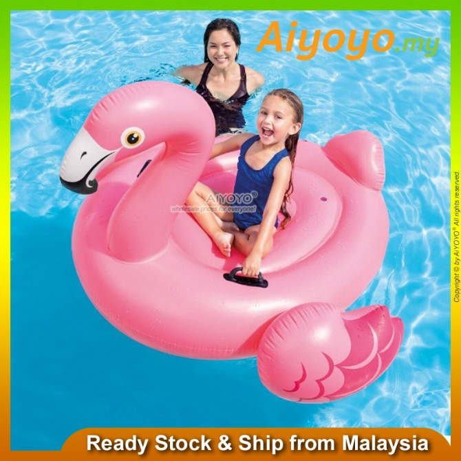 INTEX Inflatable Giant Flamingo Ride On Pool Float Swimming Pool Swimming Ring Swimming Float Baby Kids Pelampung Duduk