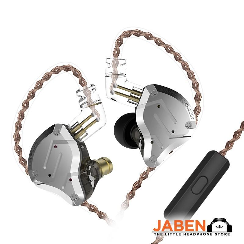 KZ ZS10 Pro 5 Drivers Hybrid Wired In-line Mic In-Ear Earphones [Jaben]