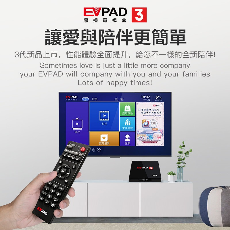 EVPAD 3S / EVPAD 3 MY VERSION ANDROID TV BOX LIFE TIME FREE