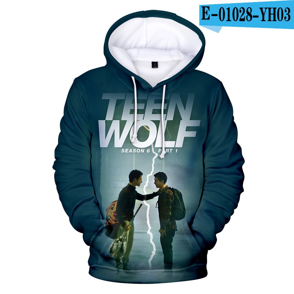 Wolf Squad Mens Pullover Hooded Sweatshirt Cozy Sport Outwear Black