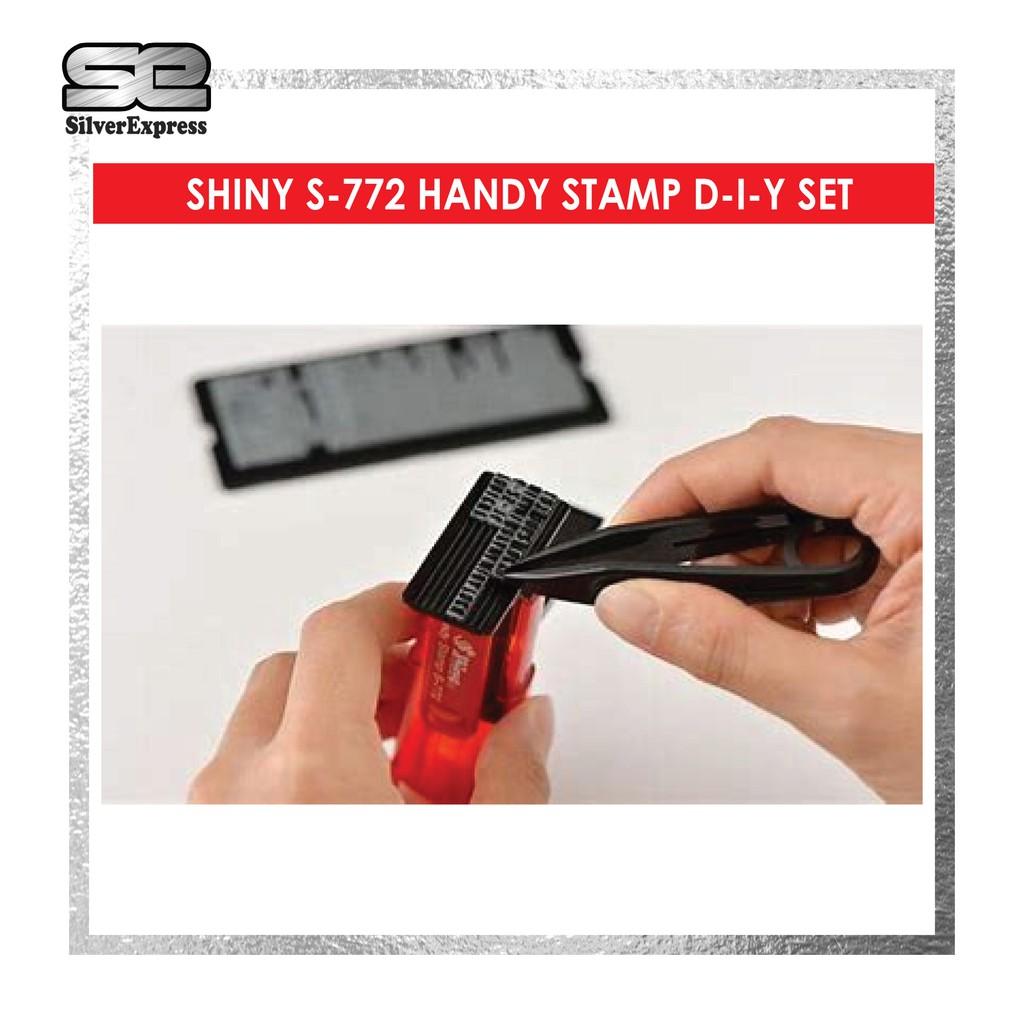 SHINY DIY SET S-772 / HANDY STAMP / RUBBER STAMP / DIY SET / INSTANT STAMP / EXPRESS RUBBER STAMP / SELF INKING STAMP