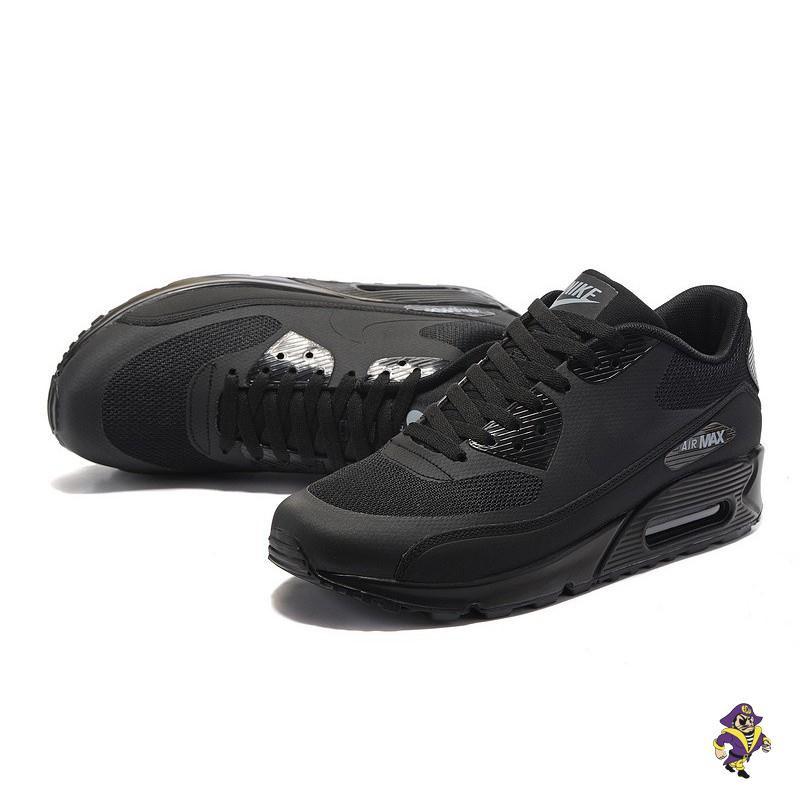 Mens Womens Nike Air Max 90 Triple Black Running Shoes