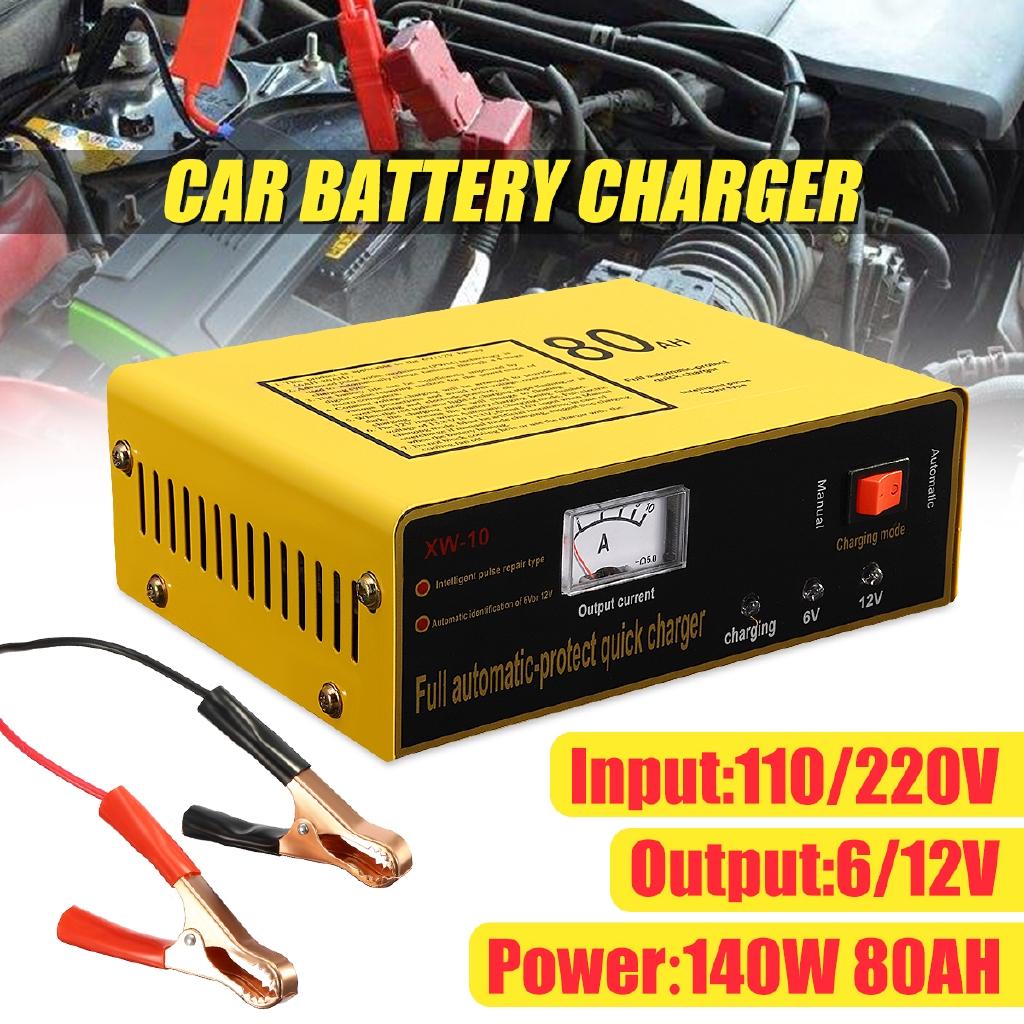 220V 6V/12V 80AH Truck Auto Car Battery Charger Negetive Pulse Tool