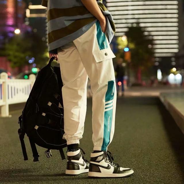 [M~3XL]Men Clothing Korean couple casual hip hop pants 潮牌运动裤子男夏季薄款情侣休闲裤韩版潮流嘻哈街头九分裤束脚裤