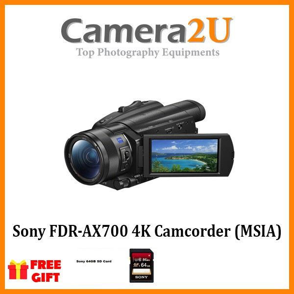 Sony FDR-AX700 4K Camcorder (MSIA)