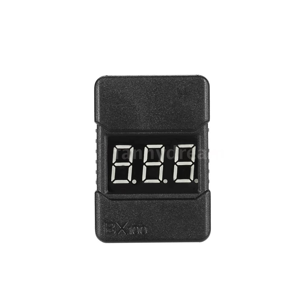 F&D BX100 1-8S LiPo Battery Voltage Tester Low Voltage Buzzer Alarm with  LED Indicator