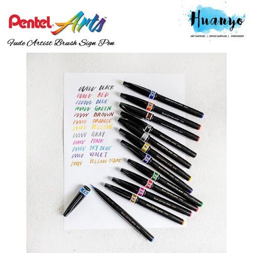 Red Pentel Arts Colour Brush