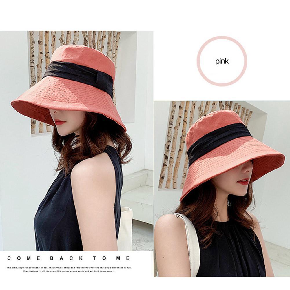 884927d93 Women Retro Summer Sun Beach Floppy Bucket Sun Hat Wide Large Brim ...