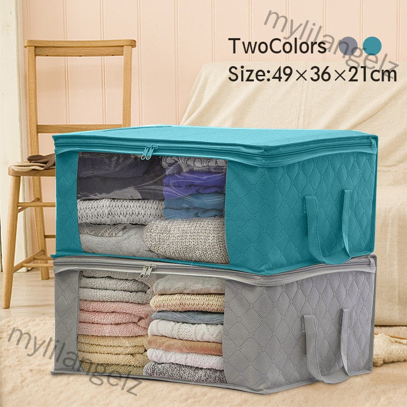 Mylilangelz 1 PCS Non-woven Foldable Storage Bag Organizers Dust-proof (READY STOCK)