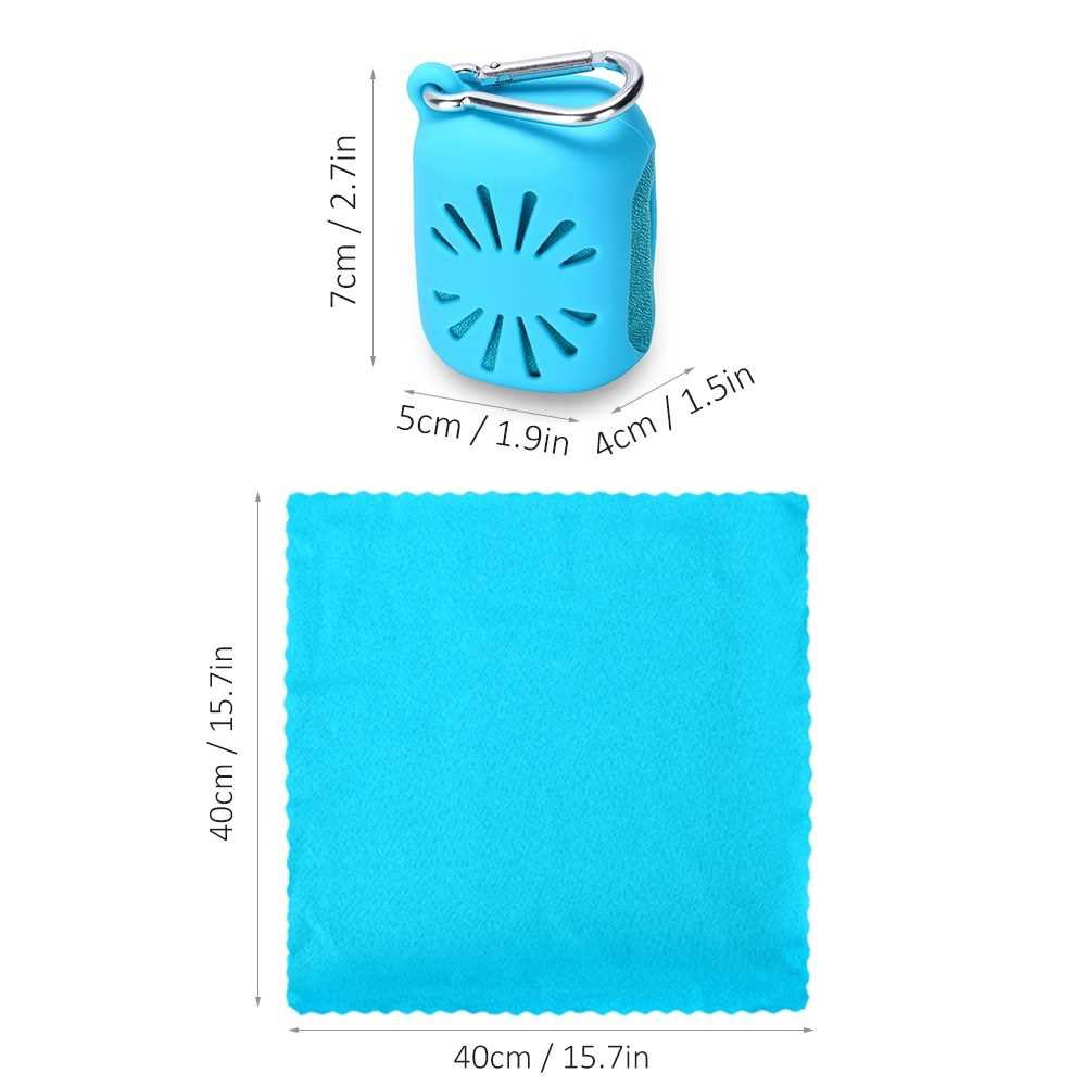 Compressed Mini Quick Dry Towel with Silicon Case (Blue1)